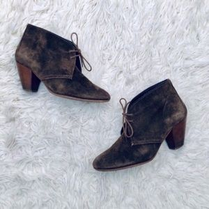 Madewell 1937 Suede Sandstorm Ankle Boots